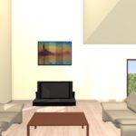 簡単6ステップで出来るお洒落な絵画の飾り方(3Dマイホームデザイナーの使い方)