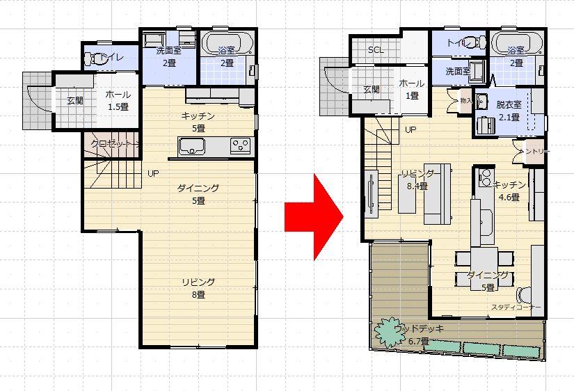 注文住宅間取りで失敗しない方法 実践編③ 間取り図に家具を入れてもらう事(2)