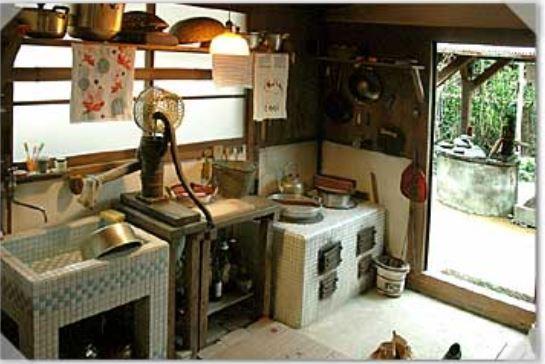 古民家の台所