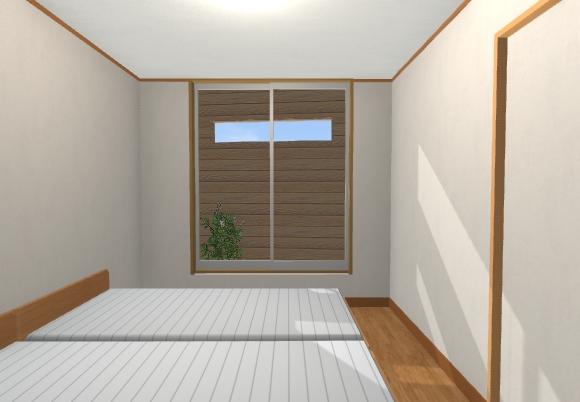 27坪2階デッキの2階リビング寝室