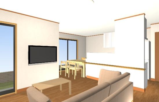 31坪横並びキッチン最小プラン2階内観図