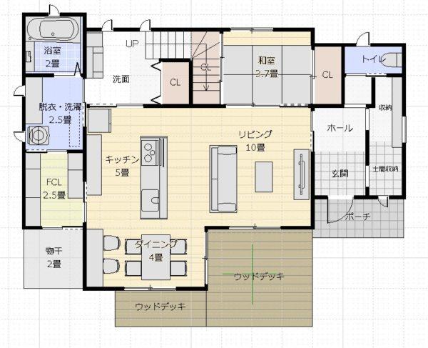 37坪3LDK+和1階平面図1