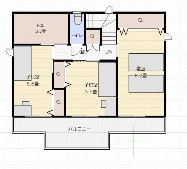 37坪3LDK+和2階平面図1